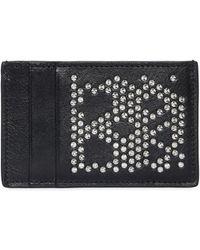 Alexander McQueen - Studded Skull Leather Card Holder - Lyst
