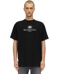 """Balenciaga T-Shirt En Jersey De Coton """"Mode"""" - Noir"""