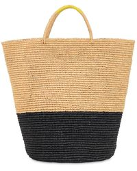 Sensi Studio Maxi Color Block Straw Beach Basket - Mehrfarbig