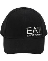 EA7 コットンキャンバスベースボールキャップ - ブラック