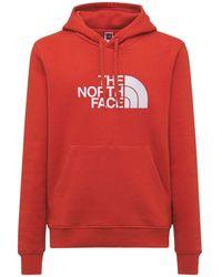 The North Face Kapuzensweatshirt Aus Baumwolle Mit Logo - Rot