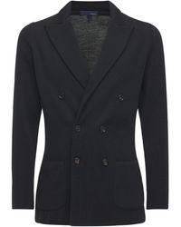 Lardini ウールジャケット - ブラック