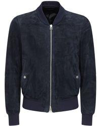 Tom Ford ライトスエードボンバージャケット - ブルー