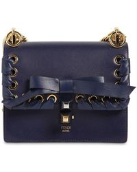 Fendi - Small Kan I Lace-up Leather Bag - Lyst