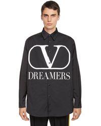 Valentino V Logo Dreamers プリントジャケット - ブラック