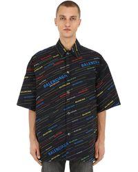 Balenciaga Camicia In Cotone - Nero