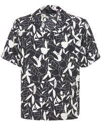 Amiri Playboy シルクツイルシャツ - ブラック