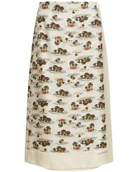 Bottega Veneta Hawaiian シルクツイルスカート - マルチカラー
