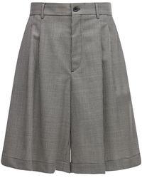 Maison Margiela Shorts Aus Wolle - Grau