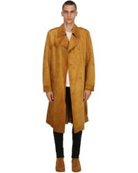 Htc Los Angeles - Studded Suede Trench Coat - Lyst