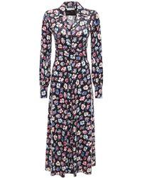 ROTATE BIRGER CHRISTENSEN Платье Jojo С Цветочным Принтом - Синий