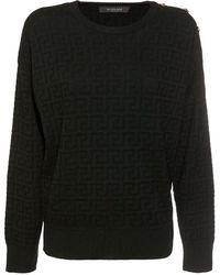Versace Свитер Из Шерсти - Черный