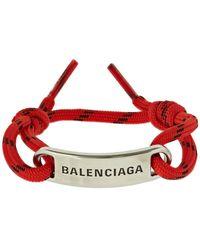 Balenciaga コードブレスレット - レッド