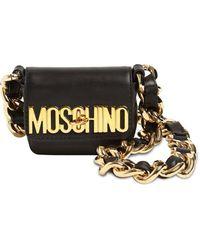 Moschino - レザーショルダーバッグ - Lyst