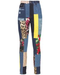 Dolce & Gabbana Patchwork ブロケードデニムジーンズ - ブルー
