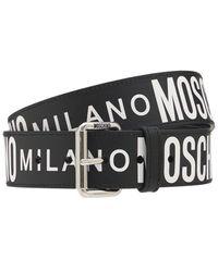 Moschino レザーベルト 3.5cm - ブラック