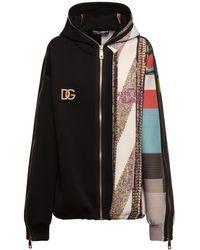 Dolce & Gabbana Худи С Принтом Из Джерси - Черный