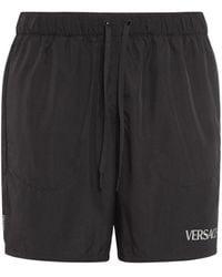 Versace Шорты Для Тренинга Со Светоотражающими Деталями - Черный