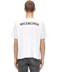 Balenciaga T-Shirt In Jersey Di Cotone - Bianco