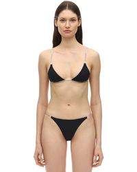 Heron Preston Bikini Triangolo In Lycra - Nero