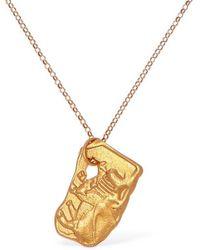 Alighieri Ox Zodiac Charm Chain Necklace - Mettallic