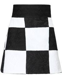 Dolce & Gabbana Patchwork ブロケードジャカードミニスカート - ブラック