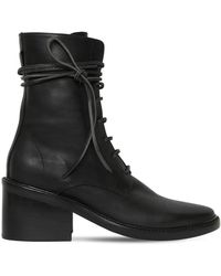 Ann Demeulemeester 60mm Lace-up Leather Boots - Black