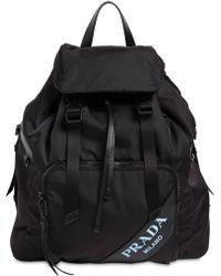 Prada - Sac à dos en toile de nylon avec logo - Lyst