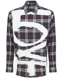 Burberry - Хлопковая Рубашка С Принтом - Lyst