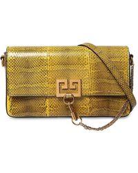 Givenchy - Charm Snakeskin Shoulder Bag - Lyst
