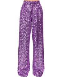 Marc Jacobs High Waist Sequined Pants - パープル
