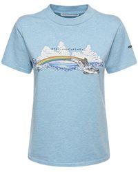 Stella McCartney - Bedrucktes T-shirt Aus Bio-baumwolljersey - Lyst