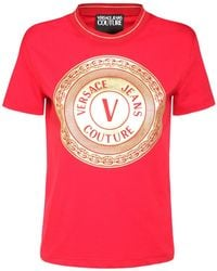Versace Jeans Couture ジャージーtシャツ - レッド