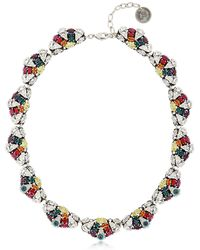 Anton Heunis - Crystal Leaf Necklace - Lyst