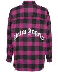 Palm Angels Рубашка Из Хлопковой Фланели - Многоцветный