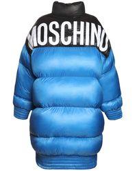 Moschino Куртка Из Нейлона С Логотипом - Синий