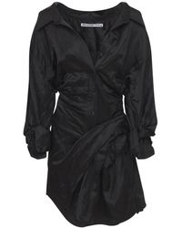 Alexander Wang Mini-robe En Satin - Noir