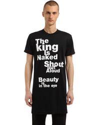 "Comme des Garçons Langes T-shirt Aus Jersey ""the King Is Naked"" - Schwarz"