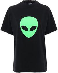 Balenciaga Alien Vintage コットンジャージーtシャツ - ブラック