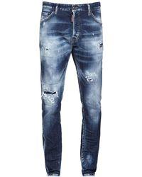 "DSquared² 16.5cm Jeans Aus Baumwolldenim ""cool Guy"" - Blau"