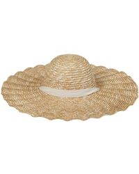 Lack of Color Scalloped Straw Dolce Hat - Mehrfarbig