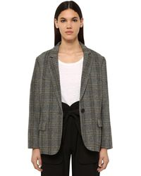 Étoile Isabel Marant Charly Wool Blend Blazer - Natural