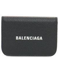 Balenciaga - Logo Leather Card Holder - Lyst