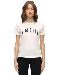 Amiri ロゴプリント コットンジャージーtシャツ - ホワイト