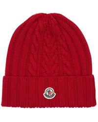 Moncler Шапка Бини С Нашивкой-логотипом - Красный
