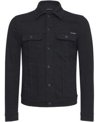 Dolce & Gabbana エンボスロゴデニムジャケット - ブラック