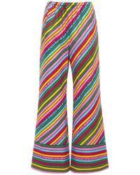 Gucci Брюки С Принтом Из Льна - Многоцветный