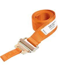 Heron Preston 4cm Breiter Webgürtel Mit Logo - Orange