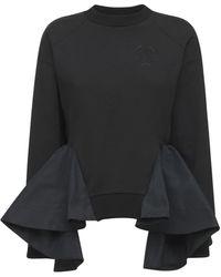 Alexander McQueen オーガニックコットンジャージースウェットシャツ - ブラック