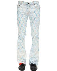 "Off-White c/o Virgil Abloh Jeans Aus Baumwolldenim ""fence"" - Blau"